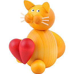 Cat Emmi with Heart - 8 cm / 3.1 inch