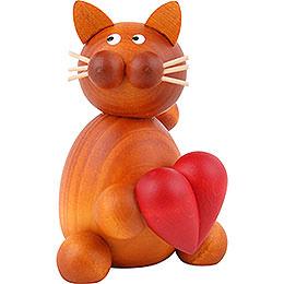Katze Charlie mit Herz - 8 cm