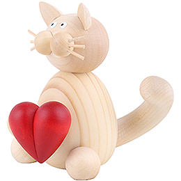 Cat Moritz with Heart - 8 cm / 3.1 inch