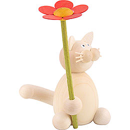 Cat Moritz with Flower - 8 cm / 3.1 inch