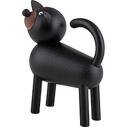 Dog Otto - Black-Grey - 9 cm / 3.5 inch