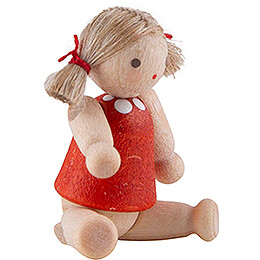Doll with Hair, Girl - 2,8 cm / 1.1 inch