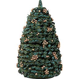 Weihnachtsbaum mit goldenen Kugeln - 10 cm
