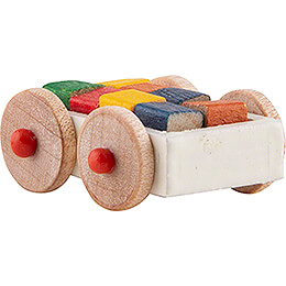 Cart with Toy Bricks - 1 cm / 0.4 inch
