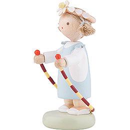 Flachshaarkinder Mädchen mit Sprungseil - 5 cm
