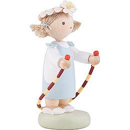 Flax Haired Children Girl with Jump Rope - 5 cm / 2 inch