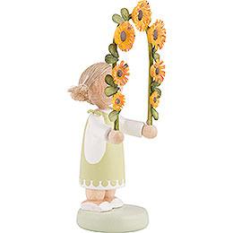 Flax Haired Children Boy with Flower Garland - 5 cm / 2 inch