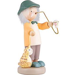 Flachshaarkinder Großvater mit Kätzchen - 5 cm