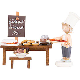 Flax Haired Children Candy Bakery - 5 cm / 2 inch