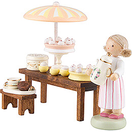 Flax Haired Children Pastry Shop - 5 cm / 2 inch
