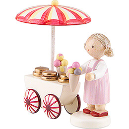 Flax Haired Children Ice Vendor - 5 cm / 2 inch
