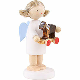 Flax Haired Angel with Little Horse - 5 cm / 2 inch