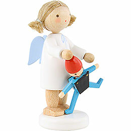 Flax Haired Angel with Jumping Jack - 5 cm / 2 inch