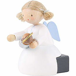 Flax Haired Angel Sitting with the Infant Jesus - 5 cm / 2 inch