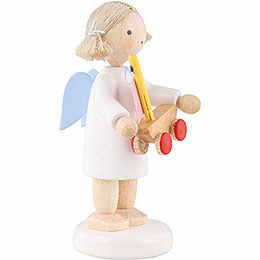 Flax Haired Angel with Little Ship - 5 cm / 2 inch