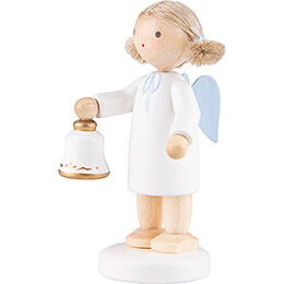 Flax Haired Angel with Bell - 5 cm / 2 inch