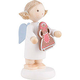 Flax Haired Angel with Gingerbread Woman - 5 cm / 2 inch