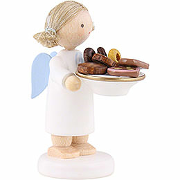 Flax Haired Angel with Christmas Treats - 5 cm / 2 inch