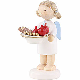 Flax Haired Angel with St. Nick Plate - 5 cm / 2 inch