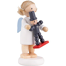 Flax Haired Angel with Plum Man - 5 cm / 2 inch