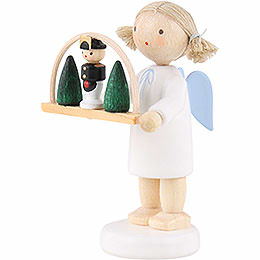 Flax Haired Angel with Candle Arch - 5 cm / 2 inch