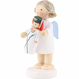 Flax Haired Angel Seiffen - 5 cm / 2 inch