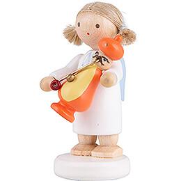 Flax Haired Angel with Smoker Turk - 5 cm / 2 inch