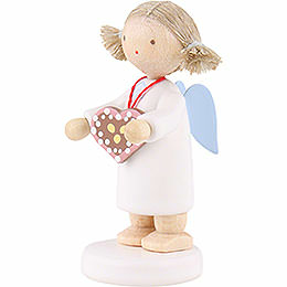Flax Haired Angel with Ginger Bread Heart - 5 cm / 2 inch