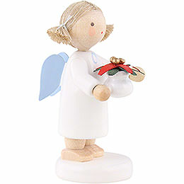 Flax Haired Angel with Christmas Star - 5 cm / 2 inch