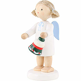 Flax Haired Angel with Table Bell - 5 cm / 2 inch