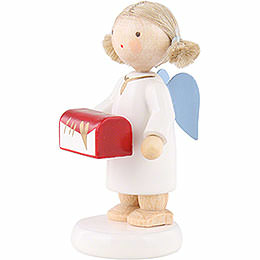 Flax Haired Angel with Jewel Case - 5 cm / 2 inch