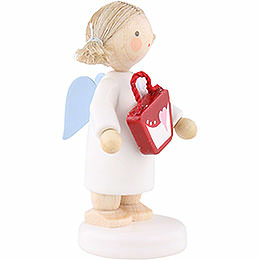Flax Haired Angel with Purse - 5 cm / 2 inch