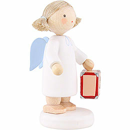 Flax Haired Angel with Little Suitcase - 5 cm / 2 inch