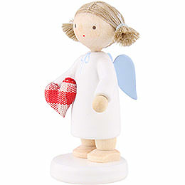 Flax Haired Angel with Fabric Heart