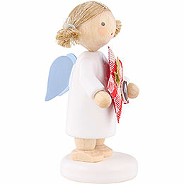 Flax Haired Angel with Star (1) - 5 cm / 2 inch