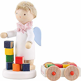 Flax Haired Angel with Blumenauer Building Set - 5 cm / 2 inch