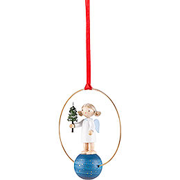 Tree Ornament - Angel with Little Tree - 7 cm / 2.8 inch