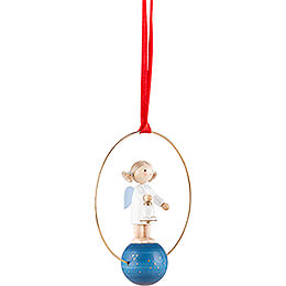 Tree Ornament - Angel with Bell - 7 cm / 2.8 inch