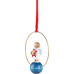 Tree Ornament - Angel with Star (1) - 7 cm / 2.8 inch