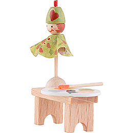 Flax Haired Children Bench with Punch - 4 cm / 1.6 inch