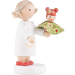 Flax Haired Children Girl with Judy - 5 cm / 2 inch