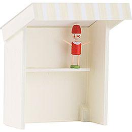 Flachshaarkinder Marktbude Spielzeughändlerin - 8 cm