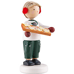 Flax Haired Children Boy with Cinnamon Star Cookies - 5 cm / 2 inch