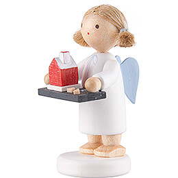 Flax Haired Angel with Smoking House - 5 cm / 2 inch