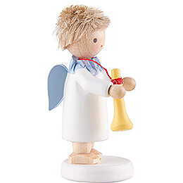 Flax Haired Angel with Trumpet - 5 cm / 2 inch