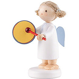 Flax Haired Angel with Tambourine - 5 cm / 2 inch