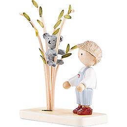 Flachshaarkinder Junge mit Koala - 5 cm