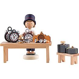 Flax Haired Children Clockmaker - 5 cm / 2 inch