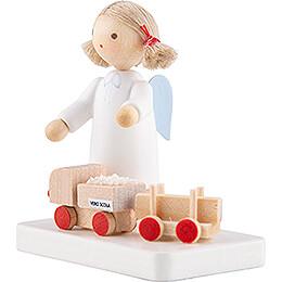 Flachshaarengel mit VERO-SCOLA Spielzeug - 5 cm