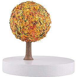 Apfelbaum auf Scheibe - ohne Figuren - Herbst - 13 cm
